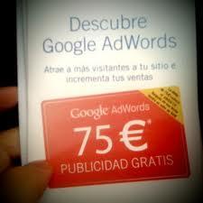Cupon Google Adwords de 75€ GRATIS!