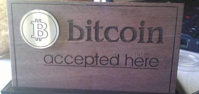 Aceptamos bitcoin en este negocio