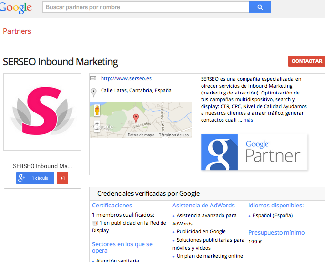 SERSEO INBOUND MARKETING GOOGLE PARTNER