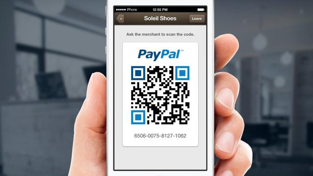 Pagos paypal a través de código QR